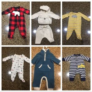 Size new born-3 months, lots 7 pieces total
